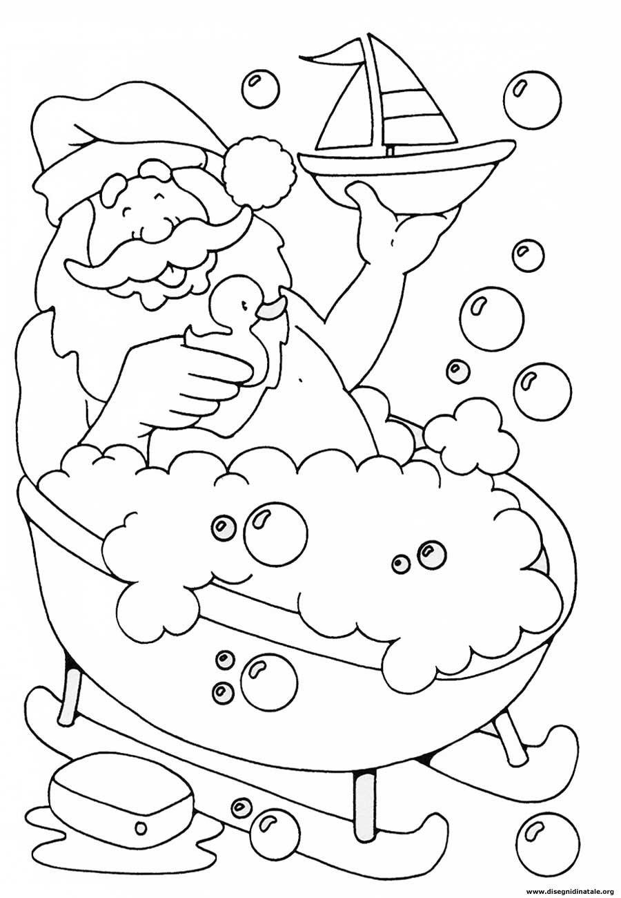 Disegni Babbo Natale Disegni Babbo Natale Da Colorare